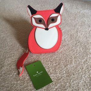 Kate Spade Blaze a Trail fox coin purse